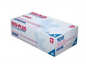 ECO PLUS Latex-Untersuchungshandschuhe puderfrei