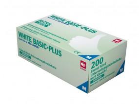 WHITE BASIC PLUS Nitril-Handschuhe puderfrei weiß