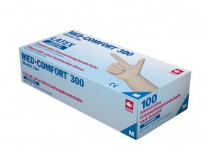MED COMFORT 300 Latex-Untersuchungshandschuhe puderfrei