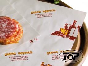 Frischpack Einschlagpapier 1/4 Maße 50 x 37,5 cm Guten appetit Aufdruck
