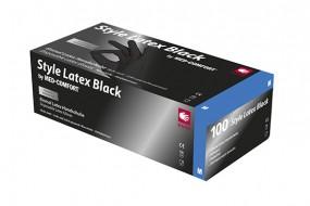 Style Black Latex-Untersuchungshandschuhe puderfrei schwarz