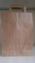 Papier Tragetasche braun ohne Druck 26 + 10 x 36 cm mit Bodenfalte