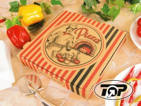 Pizzabox 26 x 26 x 4,2 cm braun NYC