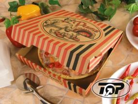 Pizzabox 22 x 22 x 4,2 cm braun NYC