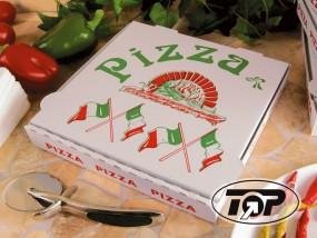 Pizzabox 24 x 24 x 4,2 cm ital. Flagge