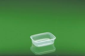 Verpackungsbecher mit Deckel 621 / 125 ml eckigKombipack mit Deckel aus Polypropylen