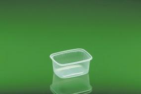 Verpackungsbecher 621 / 250 ml eckig Kombipack mit Deckel aus Polypropylen