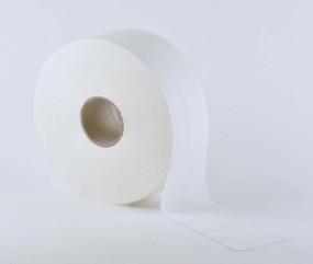 Jumbo-Toilettenpapier hochweiss 2-lagig