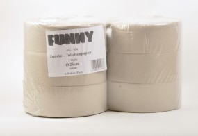 Jumbo-Toilettenpapier 1-lagig natur