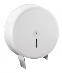 Toilettenpapier-Spender für Jumborollen Metall weiß
