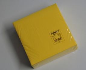 Airlaid-Servietten 40 x 40 cm gelb 1/4