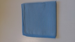 Mikrofaser-Waffeltücher 40x 40 cm blau