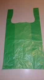 HDPE Hemdchentragetasche 30/18 x 55 cm grün