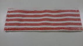 Wischmop Meiko Micro-Borstenmopp sani correct rot-weiß 50 cm Microfasermop mit Schrubbborsten und gu
