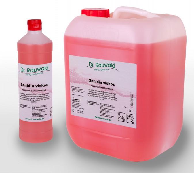 sanidin viskos sanit r allzweckreiniger 1 liter flasche sanit rreiniger reinigungsmittel. Black Bedroom Furniture Sets. Home Design Ideas