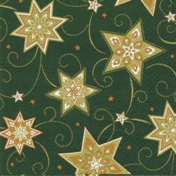 Servietten, 3-lagig 1/4-Falz 33 cm x 33 cm dunkelgrün